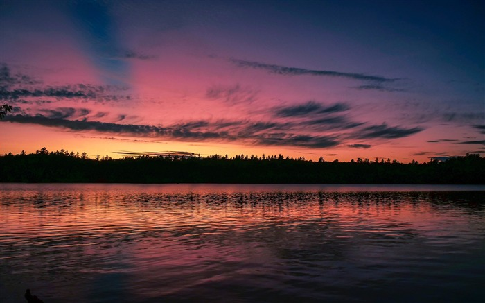 sunset lake skyline purple sky 2017 HD Wallpaper Views:215