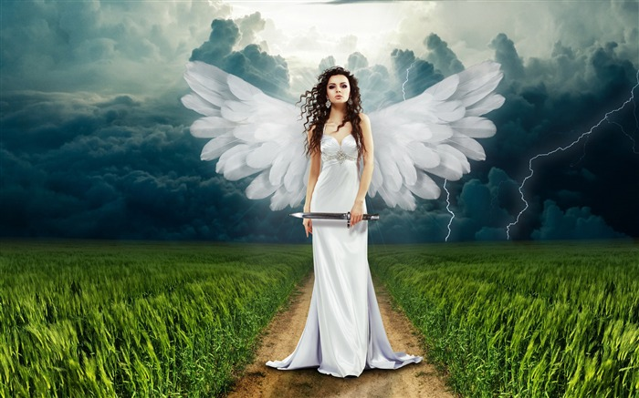 Beautiful angel white dress 2017 4K Ultra HD Views:330