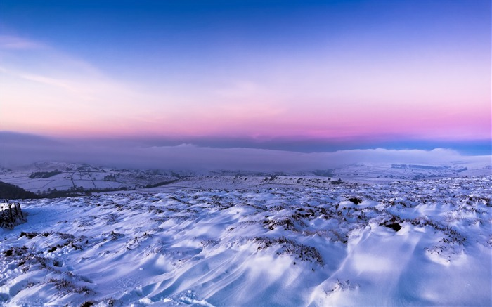 Charming winter snow mountain sky HD Scenery Photography Views:1040