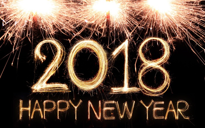 2018 Happy New Year 4K HD Wallpaper Views:4076