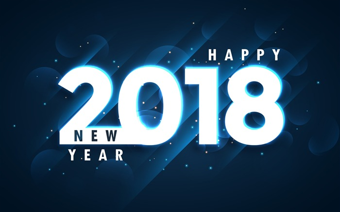 Happy New Year 2018 blue background Views:660