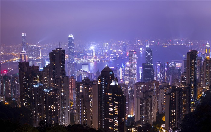 Hong Kong,moderne,architecture,nuit,photographie,4K,HD Vues:94