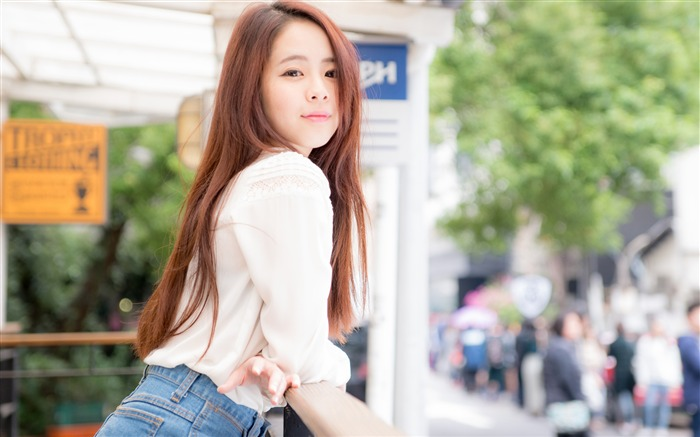 Streets pure cute beauty girl Model 4K Photo Views:314
