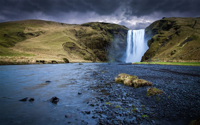 iceland skogafoss waterfall river 2017 4K Ultra HD Views:839