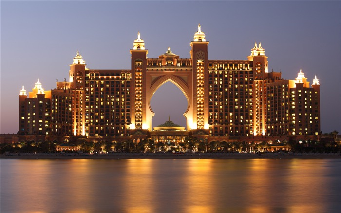 Atlantis Dubai Hotel Night Ocean Sky Views:813