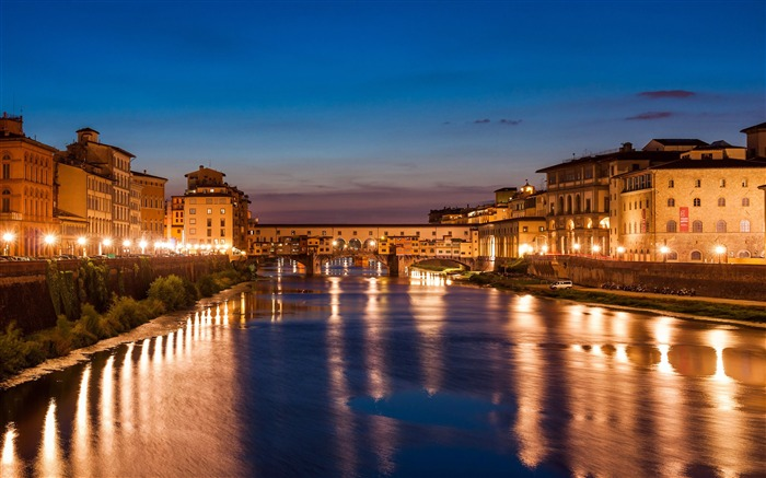 Florence italy travel city river night Views:837