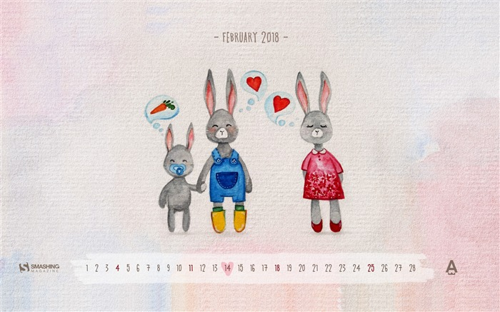 Love Is For Everyone February 2018 Calendars Views:434