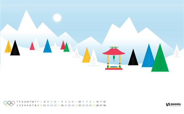 Olympic Winter Games February 2018 Calendars Views:561