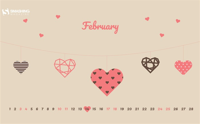 Valentines Day February 2018 Calendars Views:494