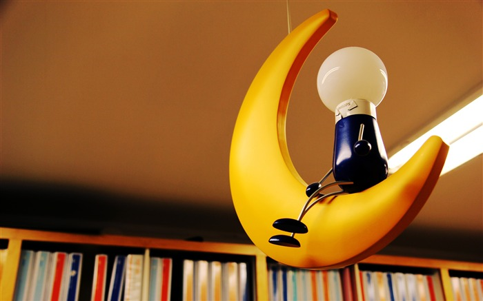 Warm and lovely library of creative lamps Views:255