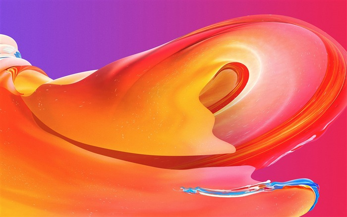 Orange curve wave abstract art Views:1269
