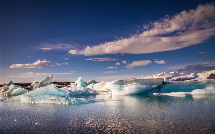 Ocean iceland glacier nature landscape Views:1077