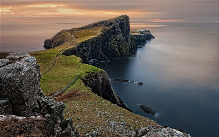 Scotland Island ocean cliffs mountains Views:1142