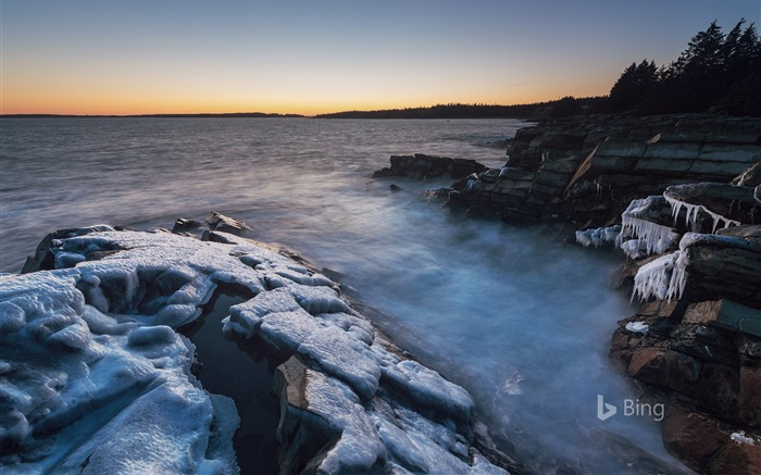 Thick ice clings Atlantic Coast Canada 2018 Bing Views:236