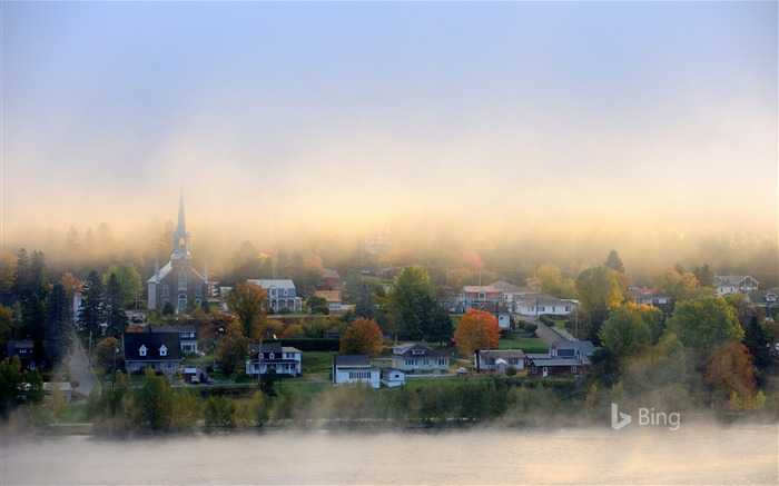 Canada Quebec Autumn Morning Mist Views:1873 Date:10/22/2018 10:45:15 PM