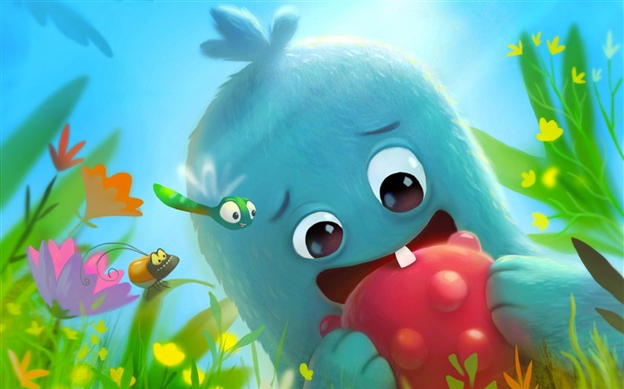 Cute Monster Illustration HD Theme Design Views:6891