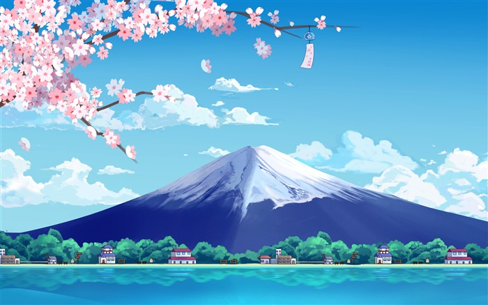 Japan Fuji Mountains Cherry Blossoms Lake Design Views:6690 Date:11/13/2018 6:59:53 AM