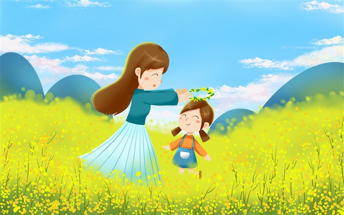 Mom daughter flower family illustration design Views:4064 Date:11/13/2018 6:38:13 AM