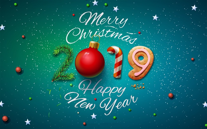 2019 New Year Merry Christmas HD Desktop Views:5792