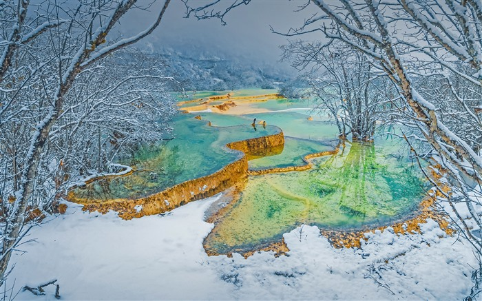 Winter Huanglong Park Sichuan 2021 Bing Theme Desktop Views:1157 Date:2/27/2021 1:45:02 AM