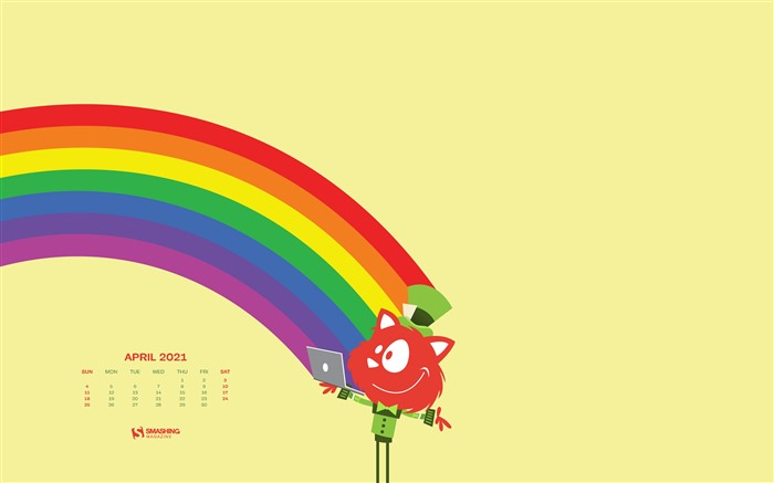 Happy Rainbow time April 2021 Calendar HD Desktop Views:855 Date:4/2/2021 3:27:37 AM