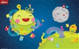 Title:sleeping moon cute illustration Wallpaper Views:12626