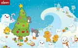 Title:snowwalk cute illustration Wallpaper Views:11872