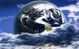 Title:Digital Space Art Blue Planet The Earth Widescreen Views:8095