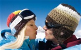 Title:Honeymoon Couple in Alps - Alpine Winter Vacation Views:6278