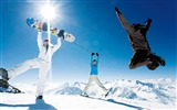Title:Jumping in Snow - Alps Winter Fun Vacation1 Views:9679