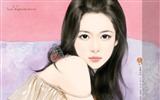 Title:Sweet Charming Faces Sweet Girls Paintings Wallpaper4 Views:4084