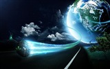 Title:Blue Earth PS design computer wallpaper Views:14523