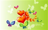 Title:Butterfly love - Valentines Day heart-shaped design wallpaper Views:21182
