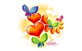 Title:Butterfly love - Valentines Day wallpaper illustration design Views:25821