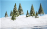 Title:Christmas snow scene with a Christmas tree wallpaper Views:39678