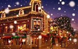 Title:Dream Christmas Town - Disneyland colorful Christmas wallpaper Views:112224