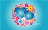 Title:Elated - Valentines Day heart-shaped design wallpaper 01 Views:6894