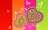 Title:Elated - Valentines Day heart-shaped design wallpaper 02 Views:6265