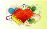 Title:colorful love - Valentines Day heart-shaped design wallpaper Views:6204