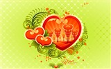 Title:colorful love - Valentines Day wallpaper illustration design Views:6306