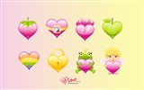 Title:cute love - Valentines Day heart-shaped design wallpaper Views:12517