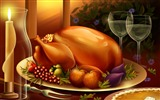 Title:Thanksgiving illustration design wallpaper Views:10640