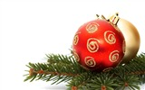 Title:Merry Christmas - Christmas tree decoration ball ornaments Wallpaper 02 Views:18136