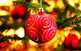 Title:Merry Christmas - Christmas tree decoration ball ornaments Wallpaper Views:19481