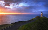 Title:New Zealand North Island Lei Yinge Cape Lighthouse wallpaper Views:11122