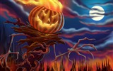 Title:Pumpkin monster-Halloween Illustration Design Wallpaper Views:9969