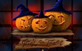 Title:Three Jack Light-Halloween Illustration Design Wallpaper Views:5668