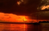 Title:after the red sunset clouds wallpaper Views:7365