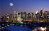 Title:Moonrise Over Manhattan-Travel in the world - photography wallpaper Views:6021