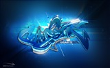 Title:Blue 3d graffiti-Personalized Graffiti Art desktop picture Views:13430